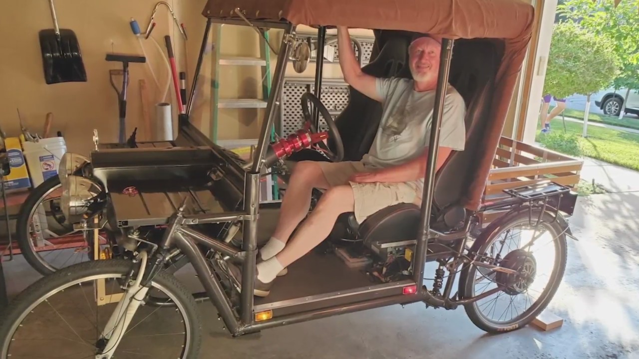 Inventor Builds Car From Random Items During COVID-19 Quarantine