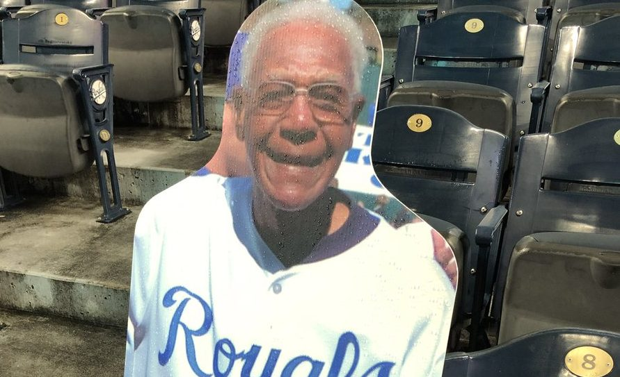 Picture of Buck O'Neil cutout in Legacy Seat at Kauffman