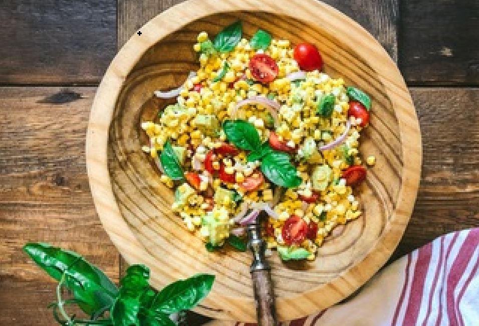 Corn avacado salad picture