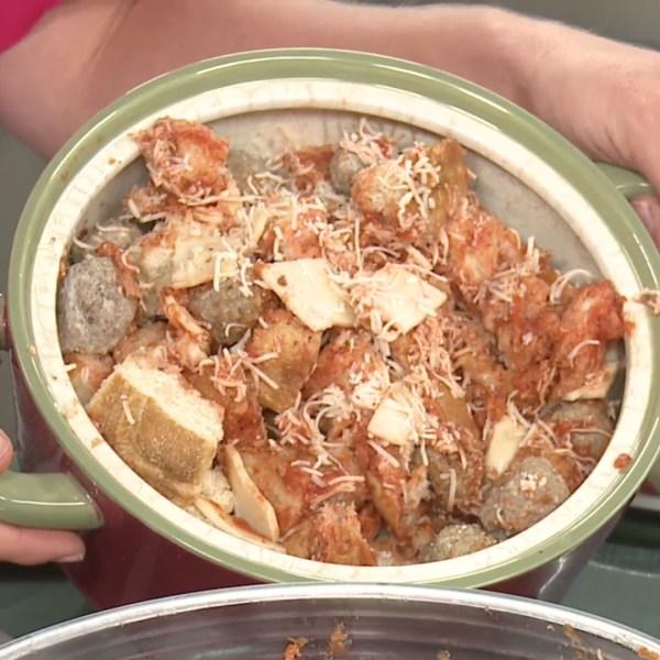 Picture of meatball sub casserole