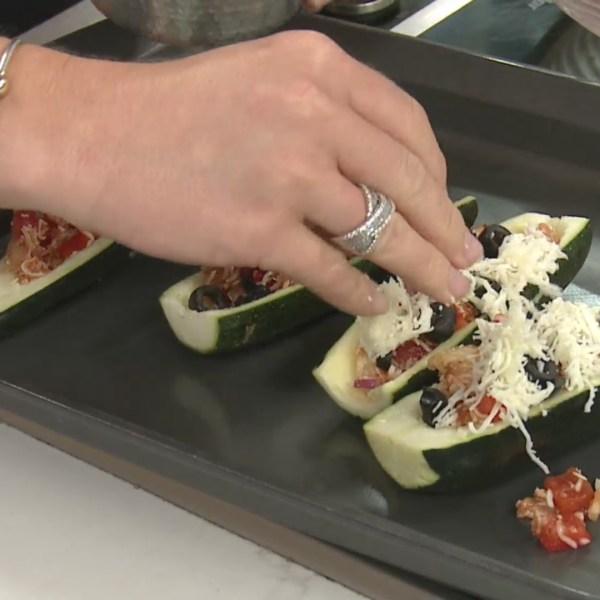 Picture of zucchini pizza boats
