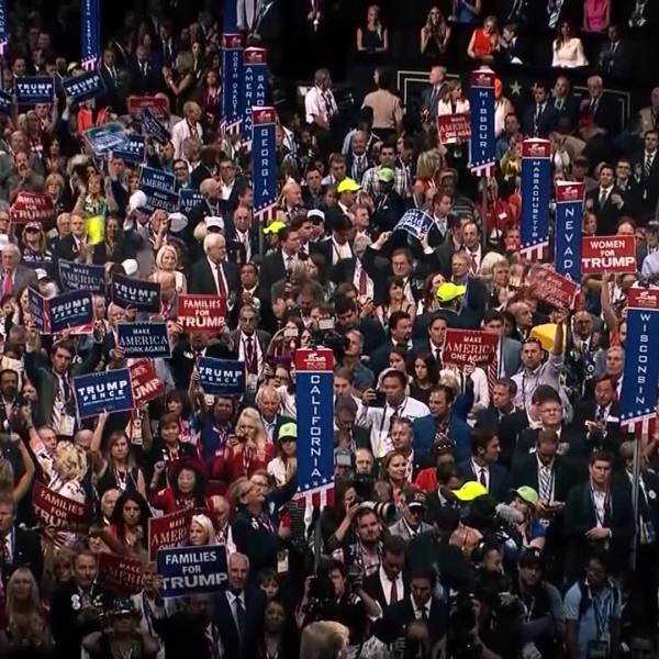 Picture of crowd at RNC