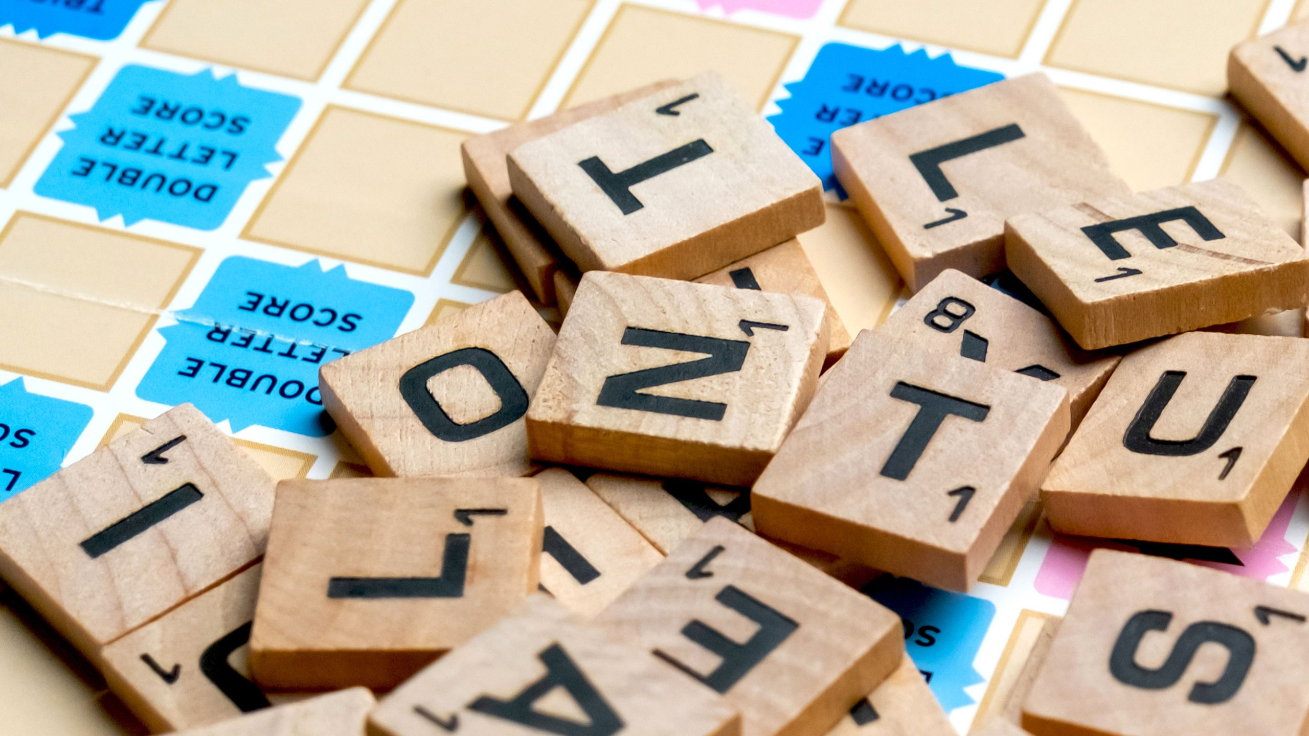 Picture of scrabble pieces on board