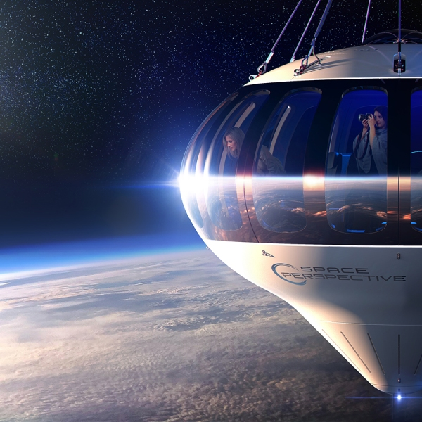 Picture of space balloon capsule