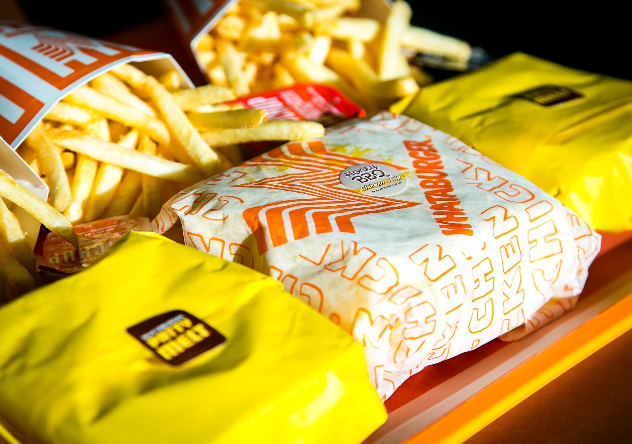 Picture of burgers, fries from Whataburger