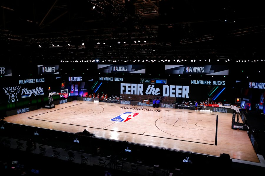 Picture of NBA court