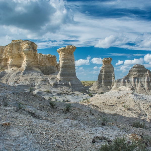 Picture of rock formations at Little Jerusalem Badlands State Park