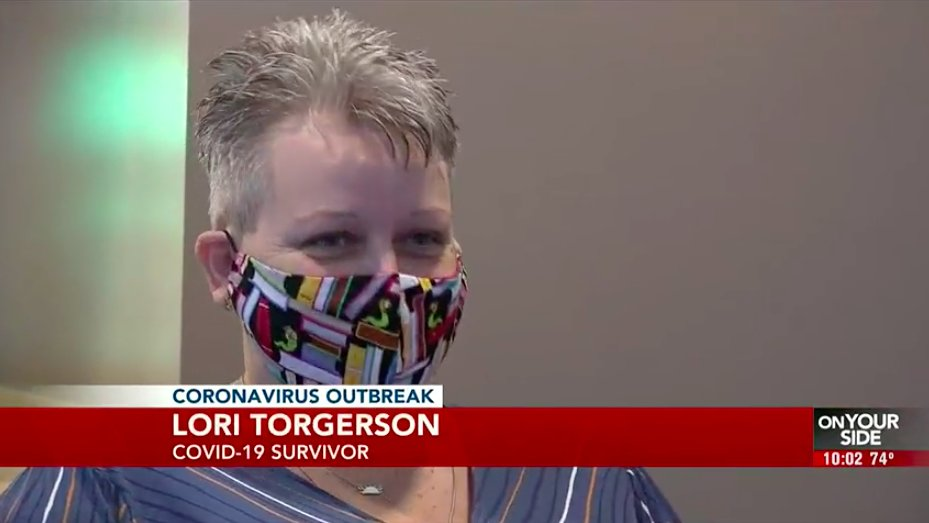 Picture of woman wearing mask