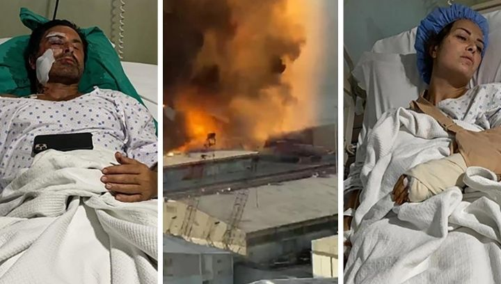 Picture of couple who survived Beirut explosion