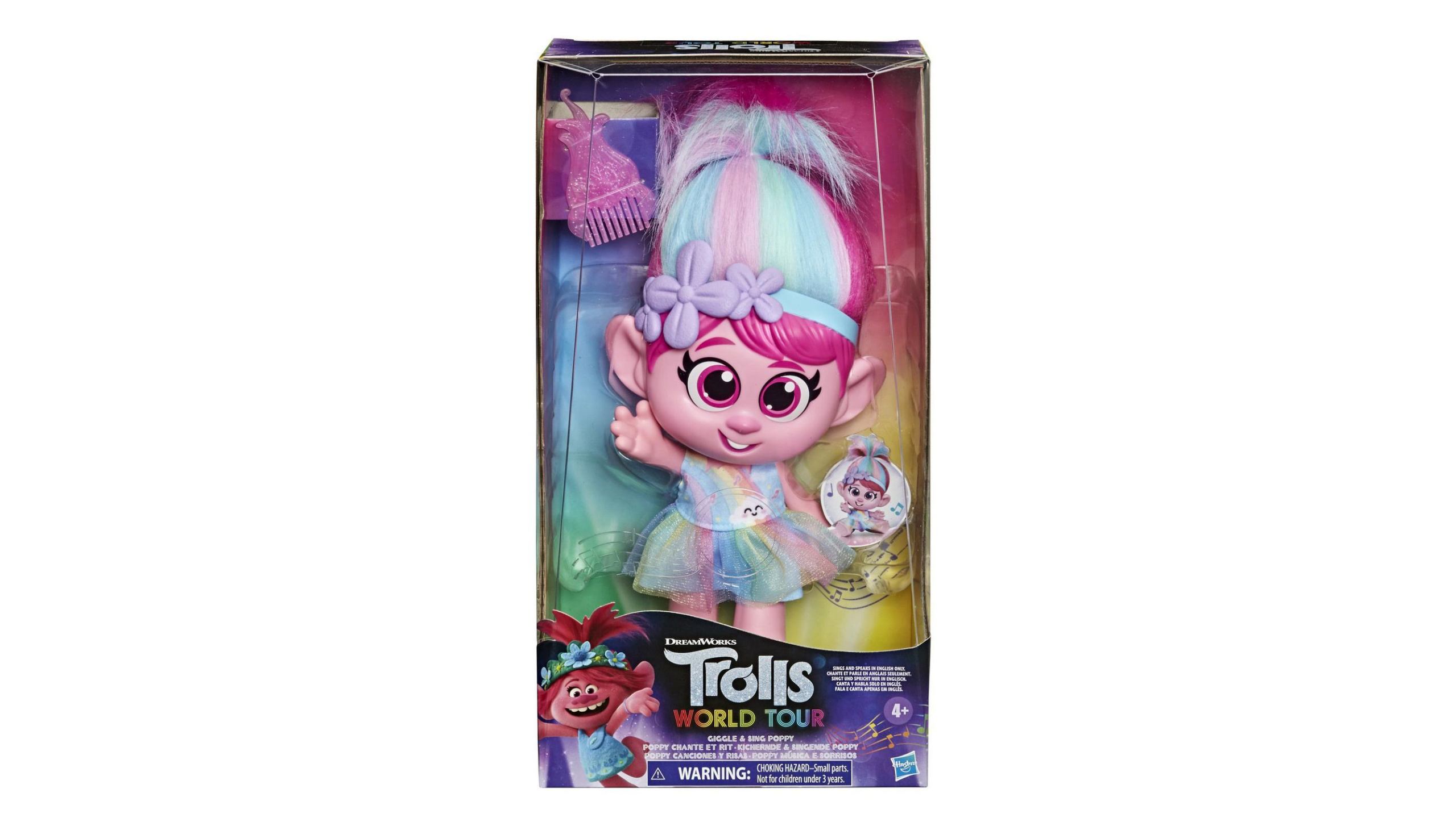 Picture of 'Trolls World Tour Giggle and Sing Poppy' doll