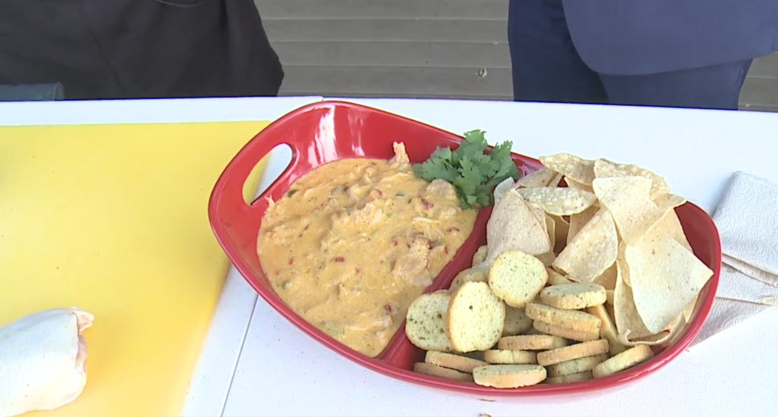 Picture of grilled chicken pimento dip from Plowboys BBQ
