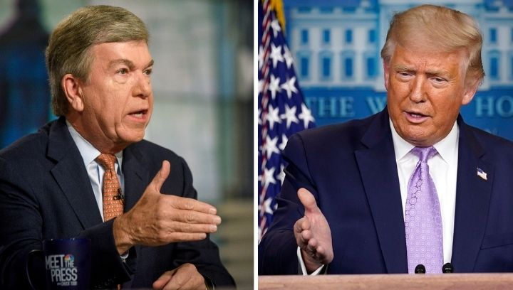 Picture of Roy Blunt (left) and Donald Trump