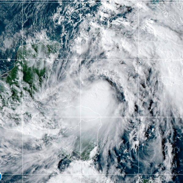 Satellite image of Hurricane Zeta