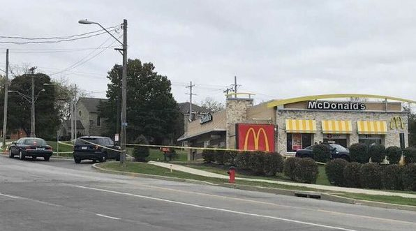 Picture of shooting scene at KC McDonalds