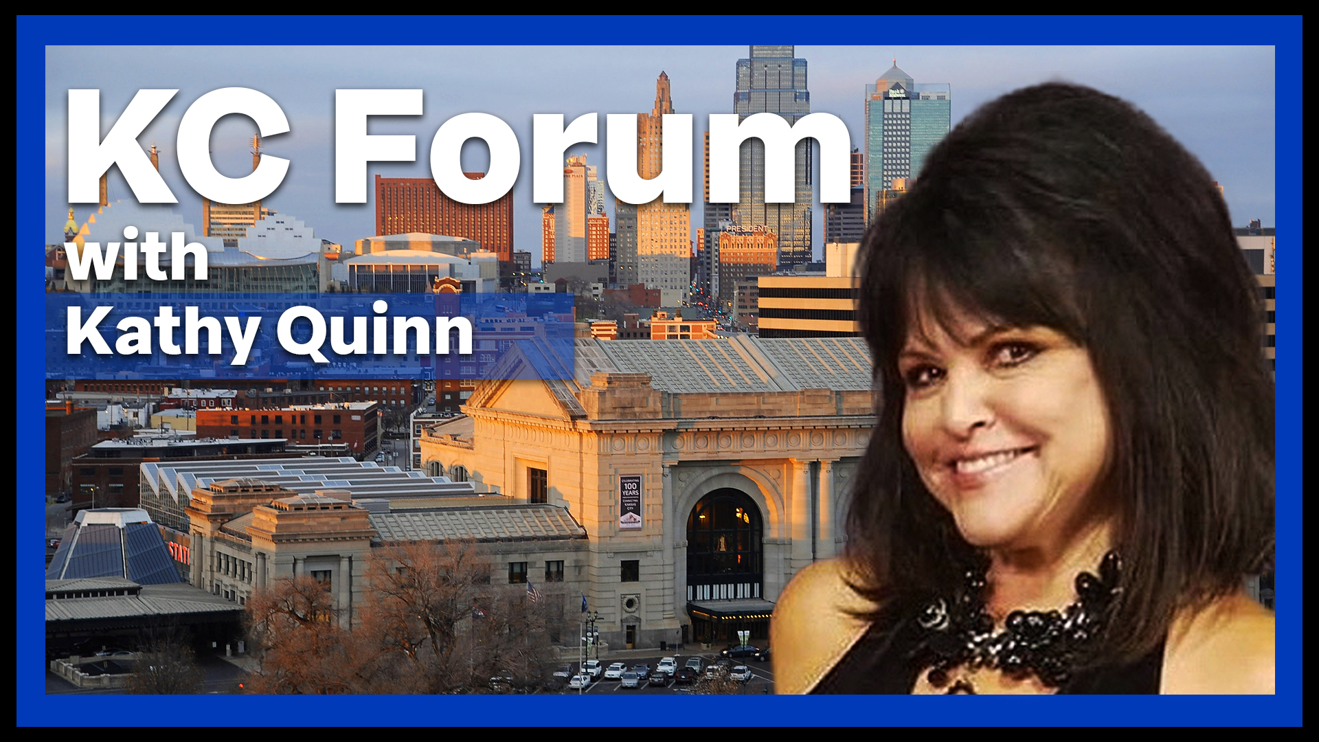 Picture of Kathy Quinn and the KC skyline