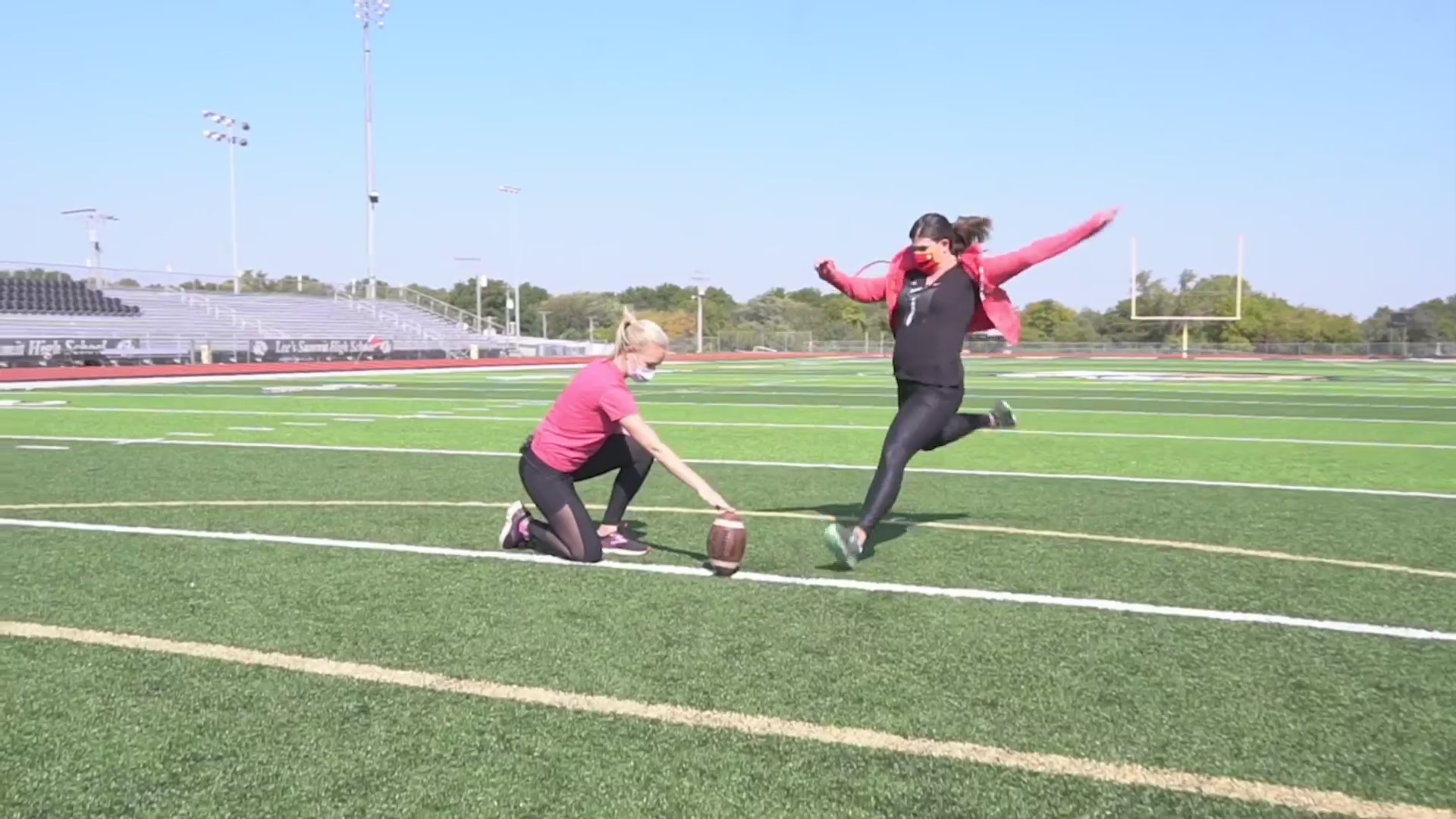 Picture of FOX4 kicking a field goal