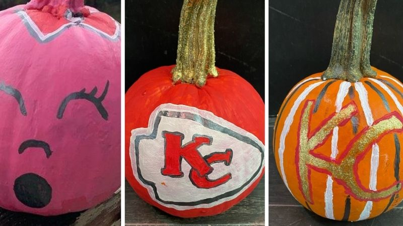 Picture of Chiefs pumpkins