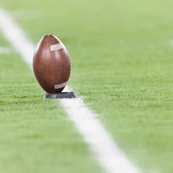 Picture of football on field