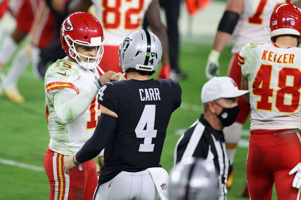 Picture of Mahomes and Carr