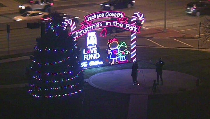 Picture of FOX4 holiday display