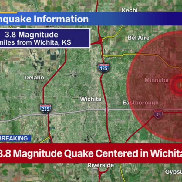 Graphic of earthquake location