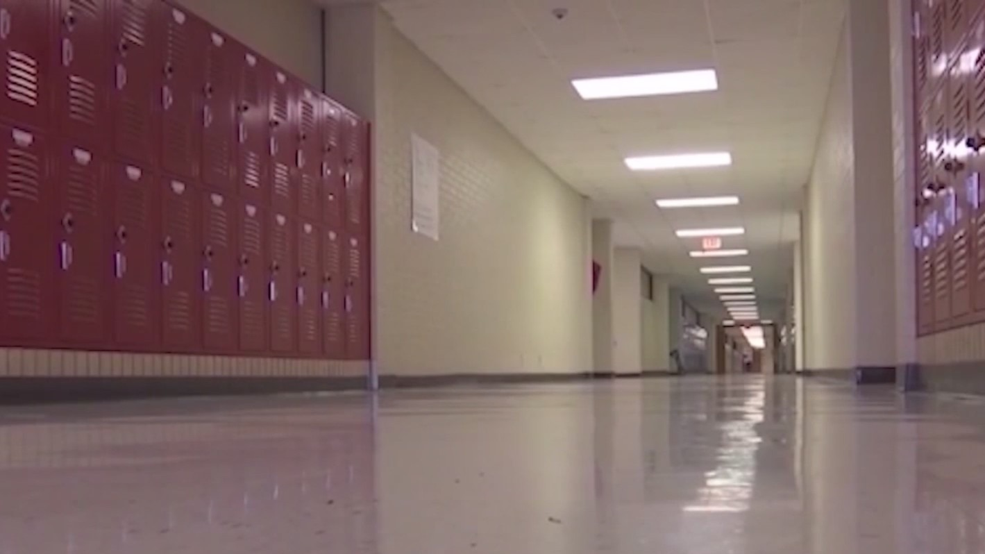 Picture of empty school hallway