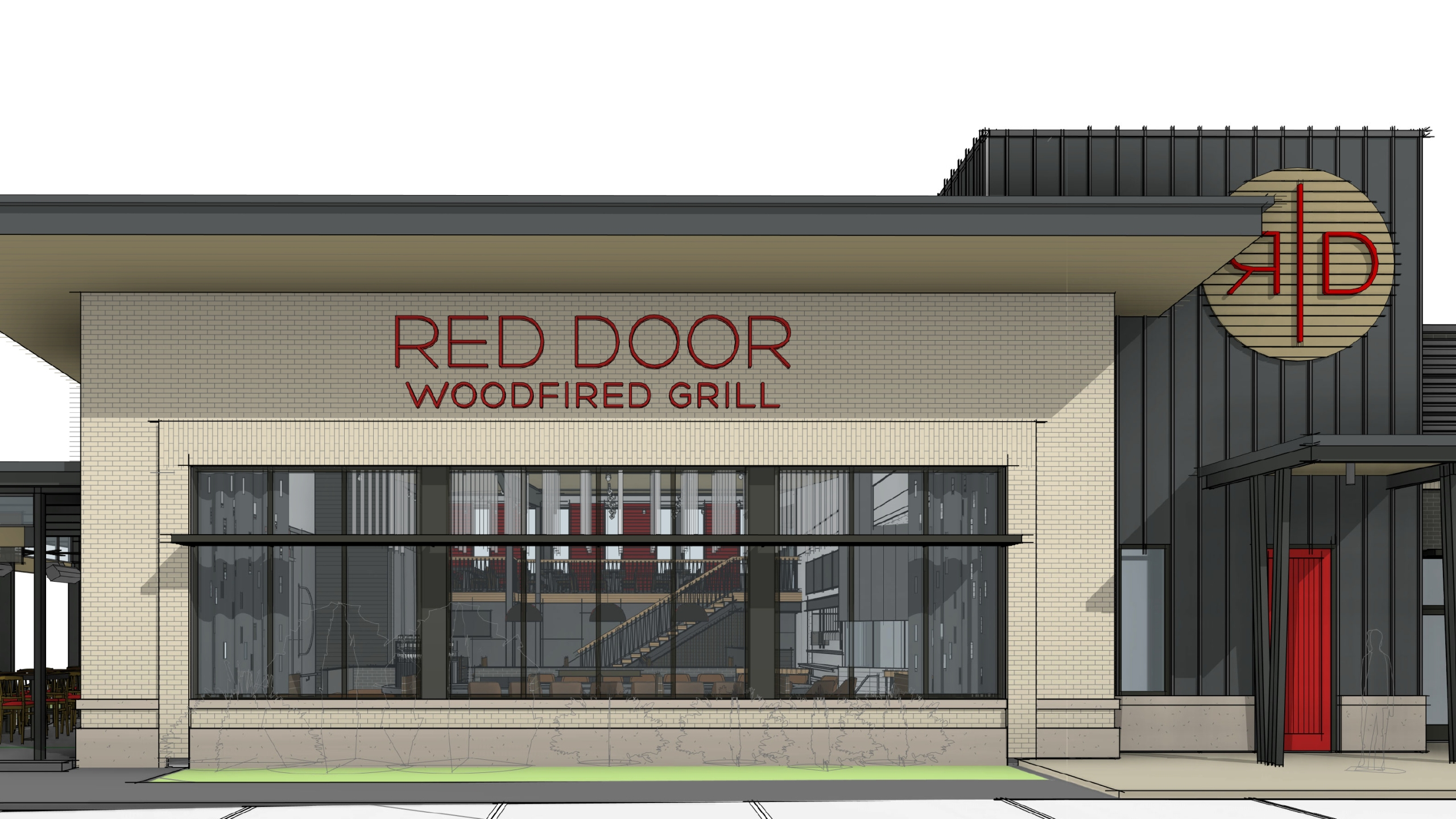 Picture of Lenexa Red Door Grill store front