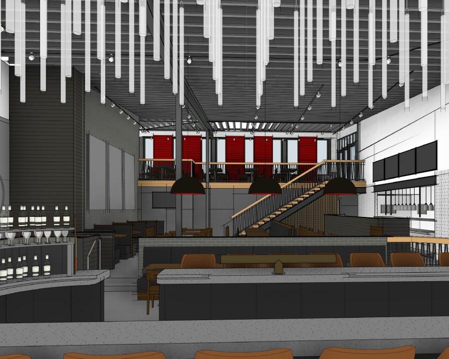 Picture of the Lenexa Red Door Grill second floor
