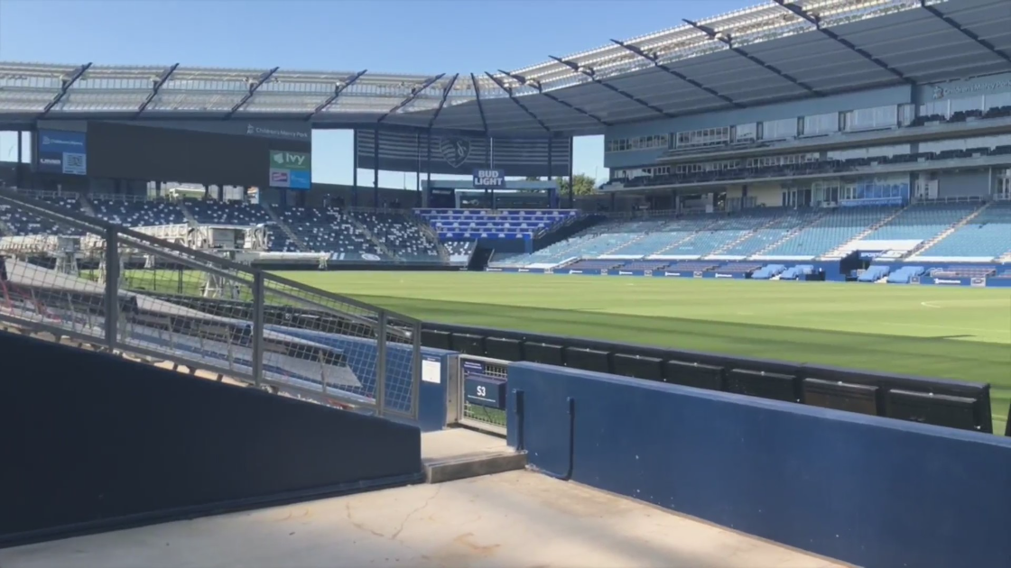 Picture inside Children's Mercy, Sporting KC