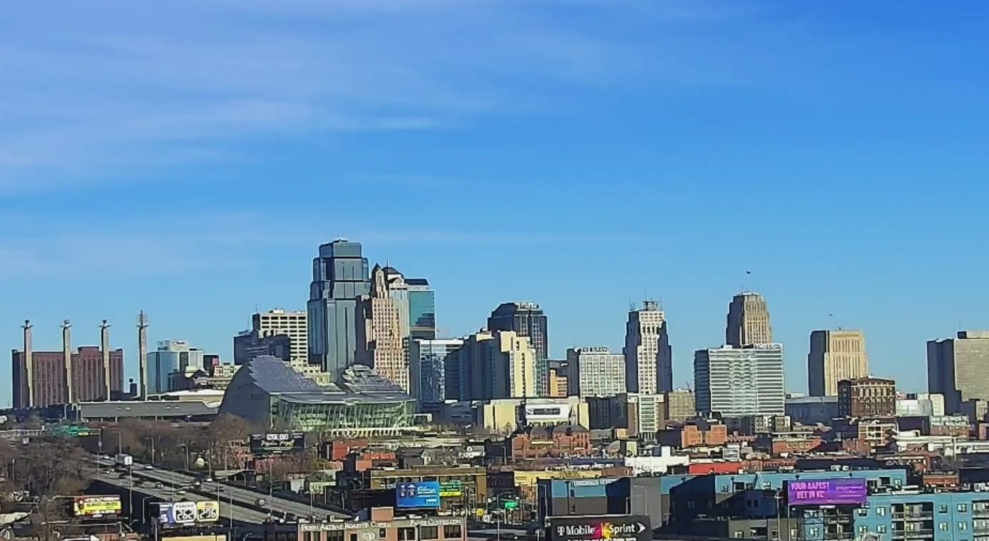 Picture of downtown Kansas City skyline from the south