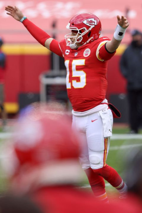 Picture of Mahomes celebrating