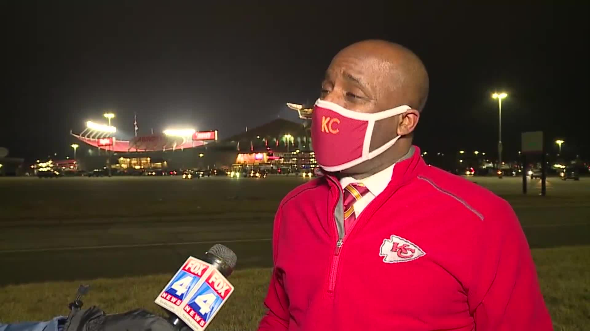 Picture of Mayor Lucas in front of Arrowhead