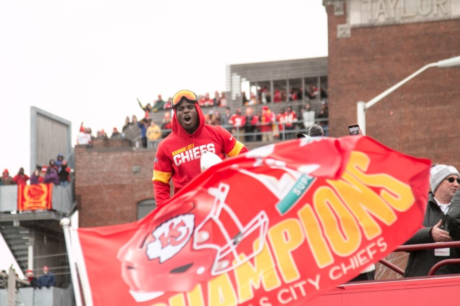 Picture of Tyreek Hill during parade