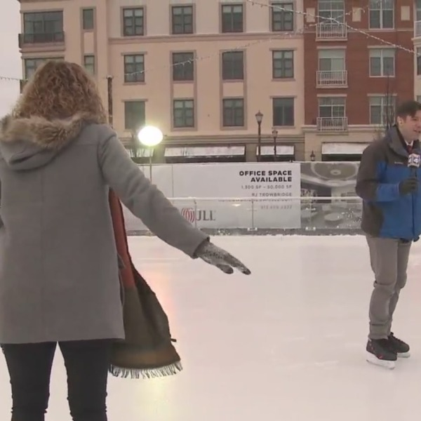 Picture of ice skaters at Zona Rosa