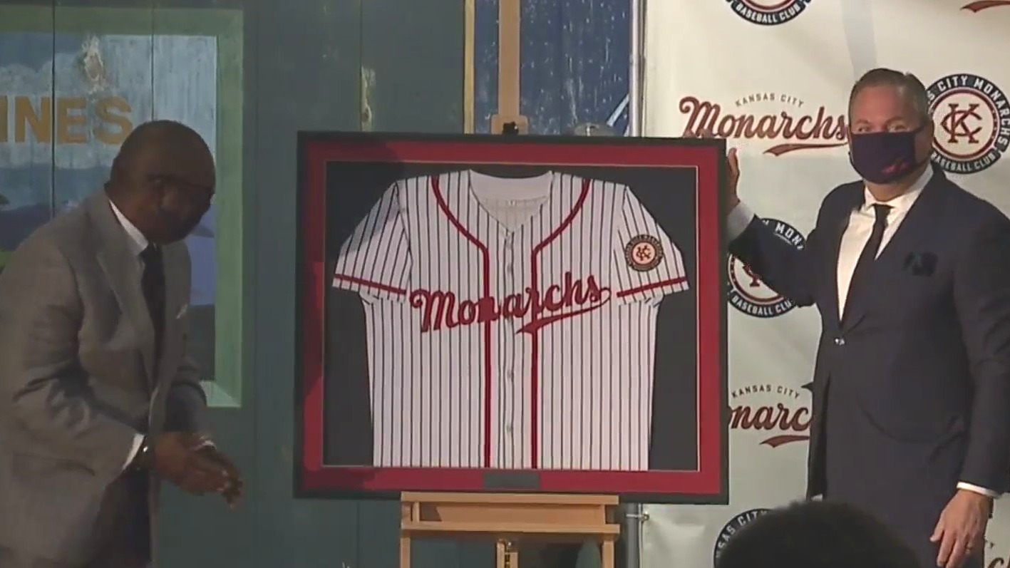 Picture of new Monarch's baseball jersey