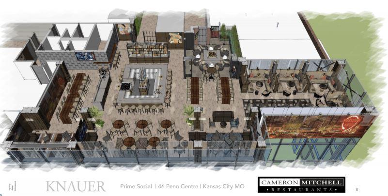 Rendering of Prime Social Rooftop