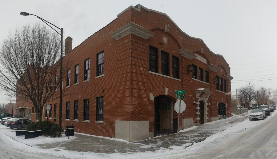Picture of historic Kansas City Water Department building at 2nd and Main