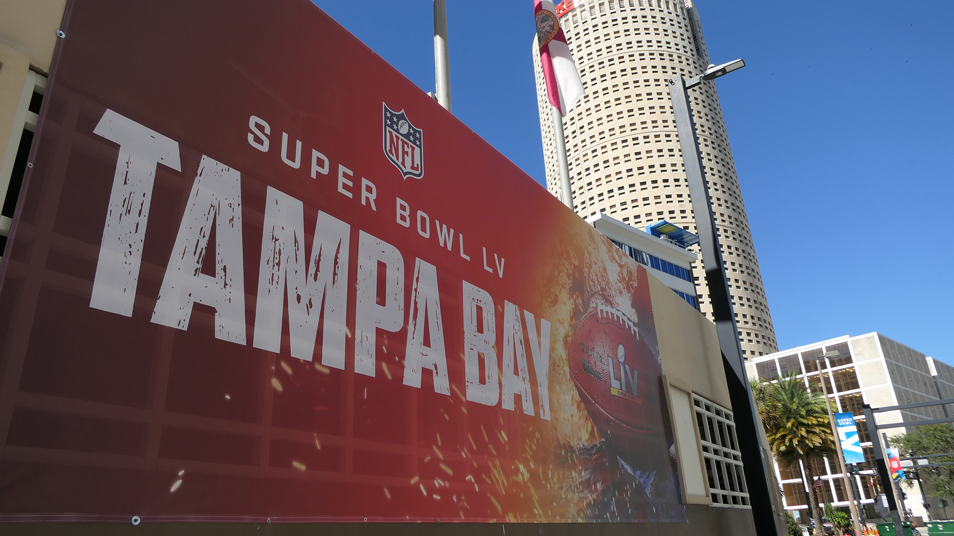 Picture of Super Bowl sign in Tampa