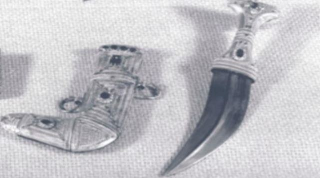 Picture of dagger and scabbard provided by the FBI