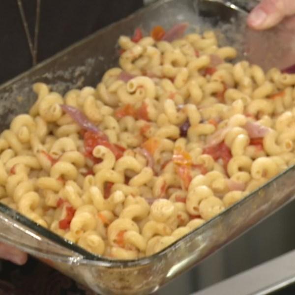 Picture of feta tomato pasta