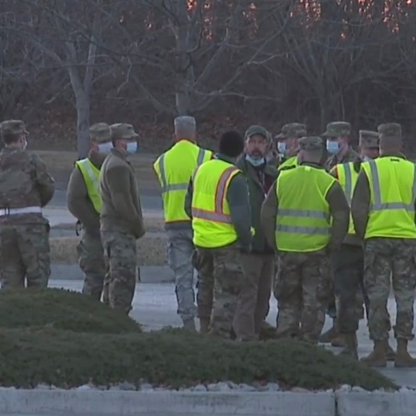Picture of guard soldiers at Cerner in NKC