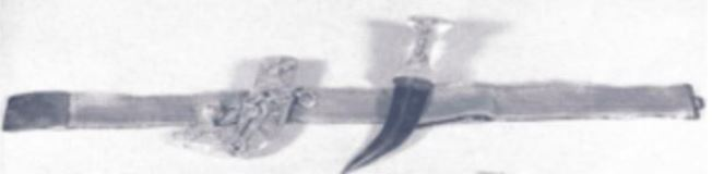 Picture of stolen dagger, scabbard and belt provided by the FBI