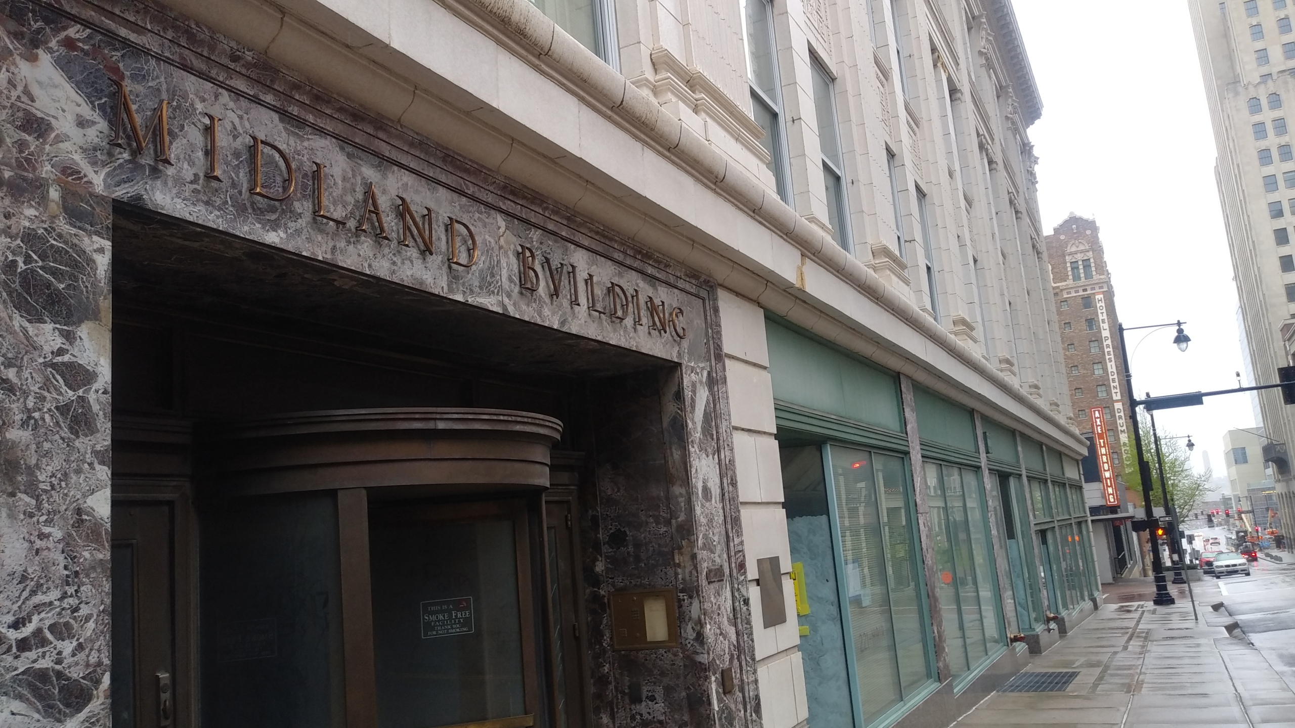 Picture of the Midland building entrance.