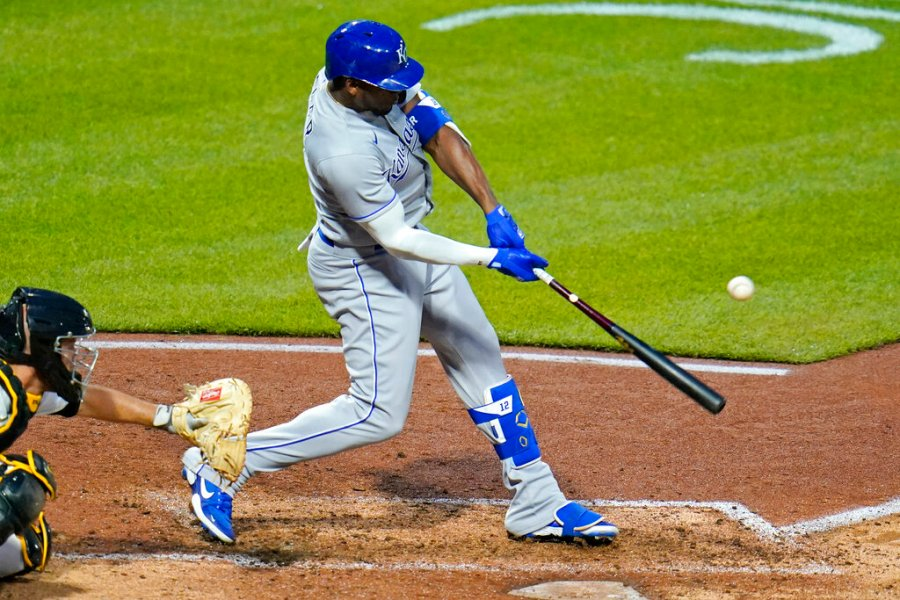Picture of Soler hitting ball