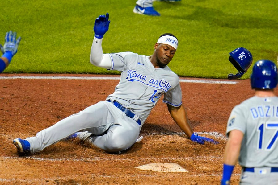 Picture of Soler sliding home