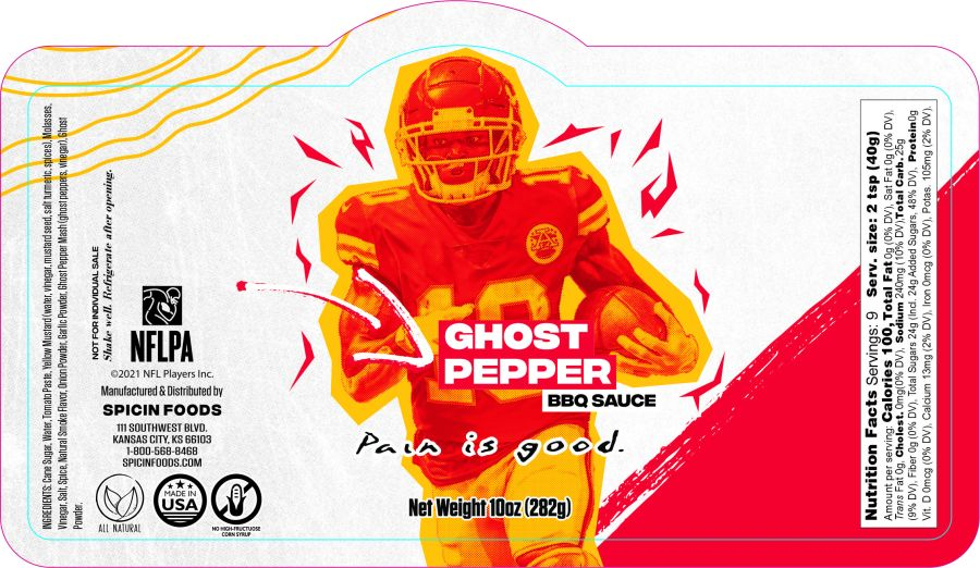 Picture of Tyreek Hill sauce label