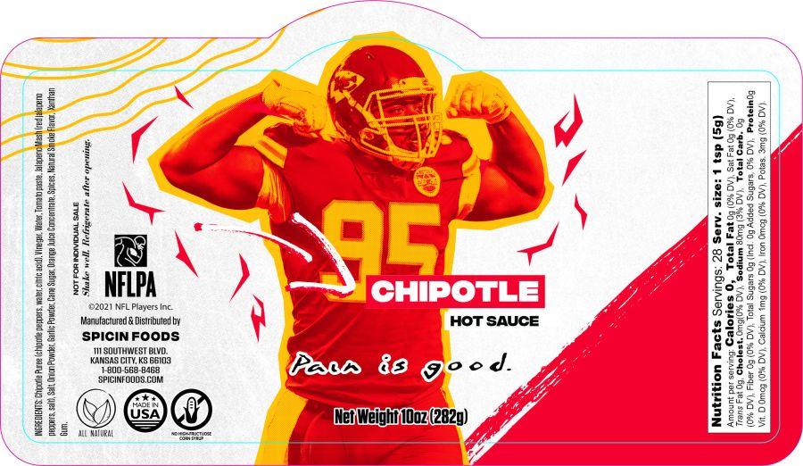 Picture of Chris Jones sauce label