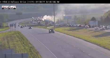 Picture of crash at I-435 at Wolcott