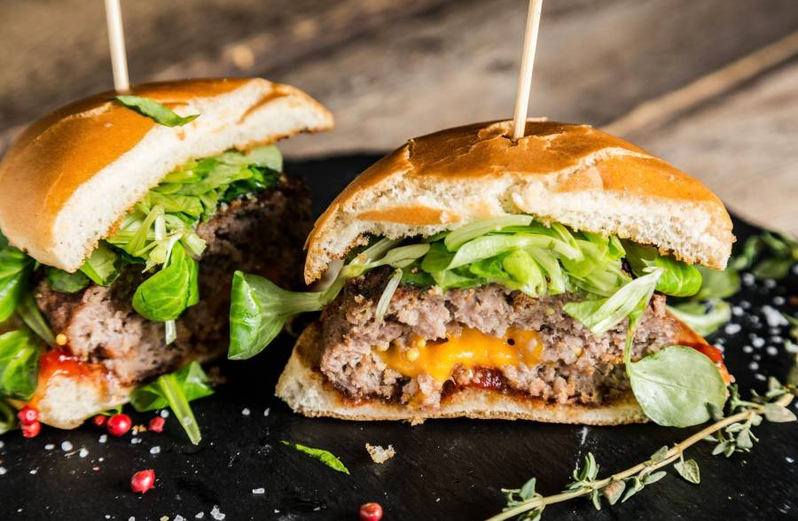 Picture of stuffed burgers