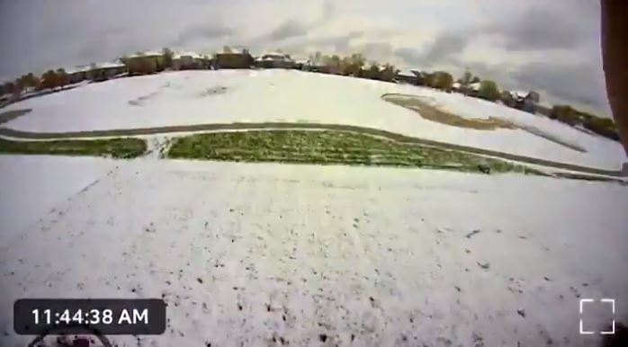 Picture of video screenshot of snow time lapse